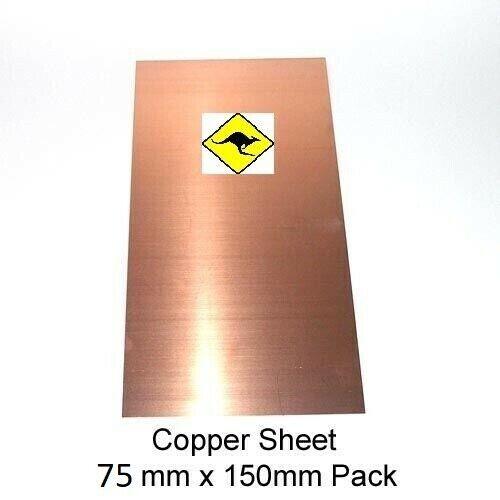 110 15 cm x 7.5 cm new bulk deals Copper Sheet 1 mm