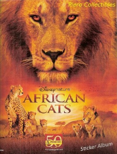 African Cats Album Vuoto Panini Disney Nature