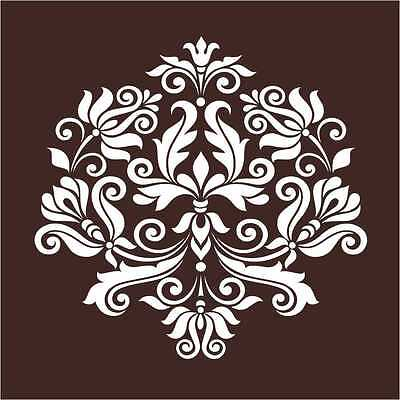 Reusable Large Wall Damask Floral Stencil Pattern for Painting Crafting
