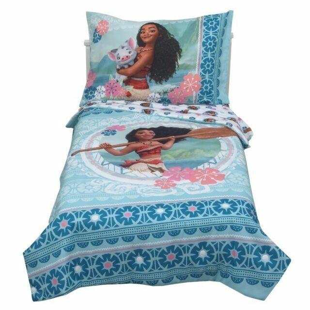 Disney Moana Aqua Toddler Bedding Set, Moana Queen Size Bed Sheets