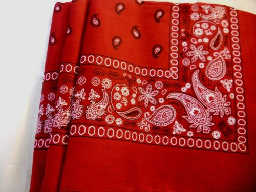 6 pcs Scarf Bandana 100/% Cotton size 22 x 22 choose color
