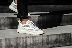 Details about Mercer Amsterdam W3RD Gum Leather White Premium Trainers √ Hand Made Size 41