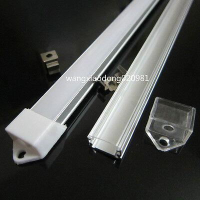 20x 0.5M U-Shape Aluminum Channel Holder & Cover End Up for Rigid LED Strip #3