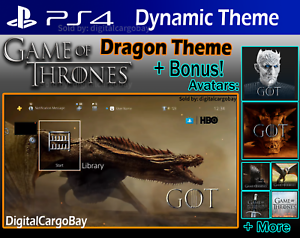 Details about Game of Thrones | PS4 Theme & Avatars | GOT Final Season 8 |  Exclusive DLC Code