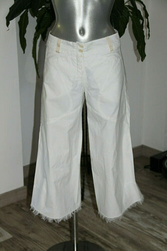 Girbaud 38 Carino Pantalone Quarti A f Taglia Originale M Fr Bianco Tre Z8ZqA