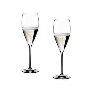 100% Vrai Riedel - 2 Flute Vinum Vintage Champagne 6416/28 - Rivenditore Prix Le Moins Cher De Notre Site