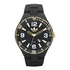 Adidas ADH2605 Melbourne Men's Black Resin Bracelet with 50mm Analog Watch NIB