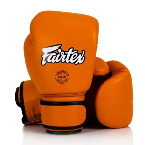 FAIRTEX BGV16 ORANGE COLOR MUAY THAI KICK BOXING GLOVES MMA TRAINING WOMEN NEW