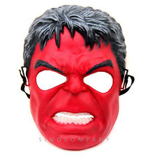 THE INCREDIBLE RED HULK AVENGERS COSTUME MASK BOYS GIRLS HALLOWEEN PARTY FY401