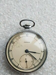 MOLNIJA Military Soviet pocket watch 1Q-1960 Stamp ChChZ Original