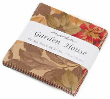 """Garden House by Jan Patek Moda Charm Pack 42 100% Cotton 5"""" Precut Quilt Squares"""