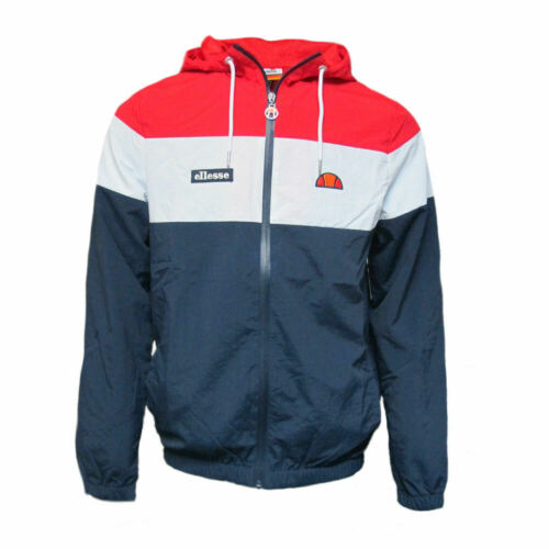 Mens Ellesse Heritage Mattar 80s Casual Vintage Hooded Jacket