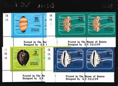 Never Hinged Ec 103288 Tokelau 34-37 Volume 1974 Completeett Unmounted Mint