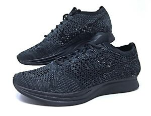Nike-Flyknit-Racer-Triple-Black-Anthracite-Mens-Womens-Running-Shoes-526628-009