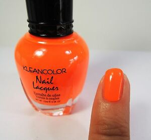 Image Is Loading 1pc Kleancolor Nail Polish Lacquer 19 Neon Orange