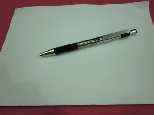 Zebra F301 Stainless Steel Ball Pen BLACK BARREL x 10 pcs Blue Ink