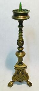 Antique-bronze-candlebra-pique-Candle-candleholder-kerzenhalter-Louis-XIV