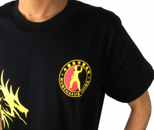 Bruce Lee Jeet Kune Do Martial arts Kung Fu Training clothes T-shirt Black