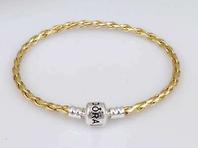 Gold Leather Bracelets Chain Bangle Fit 925 European Charms/Beads