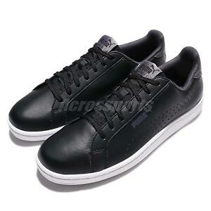 Puma Smash Perf Leather Black White Men Casual Shoes Sneakers 363722 02