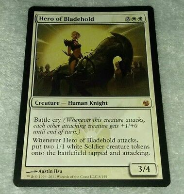 White Mirrodin Besieged Mtg Magic Mythic Rare 1x x1 1 FOIL Hero of Bladehold