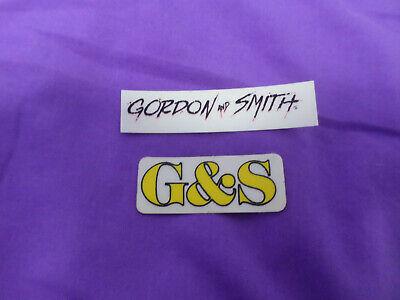 vtg 1980s G/&S Gordon /& Smith skateboard sticker Pros Ruff Miller Blender
