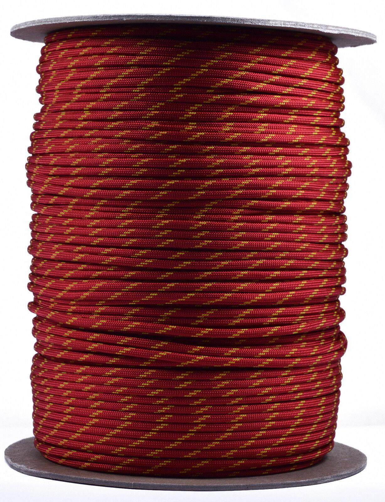 Sunburst  550 Paracord Rope 7 strand Parachute Cord  1000 Foot Spool