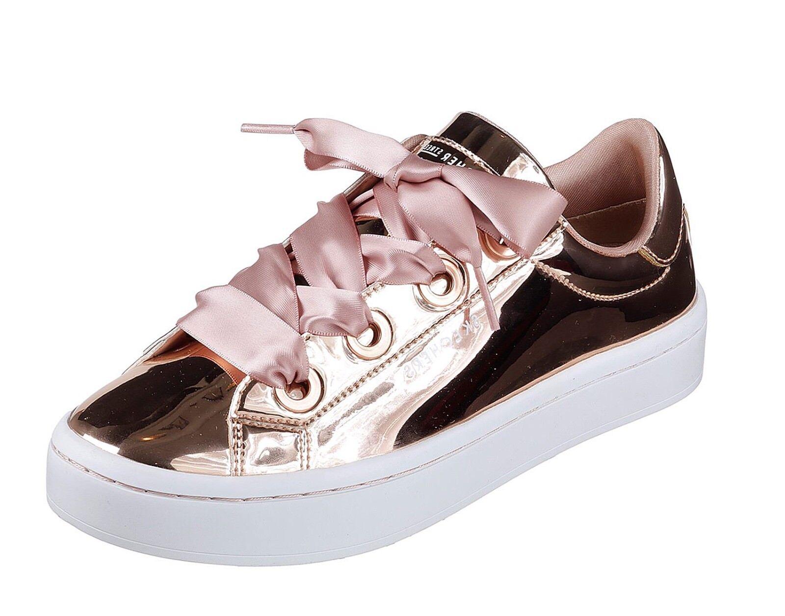 Skechers Street Nuevo HI LITES Líquido Metálico Bling Oro Rosa Zapatillas Zapatillas Rosa Tallas 3-8 820f74