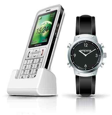 Emporia S.Plus Senioren Handy Großtasten GPS+SOS-Uhr+Ladeschale Bluetooth++