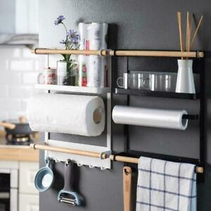 Kitchen-Refrigerator-Side-Storage-Holder-Magnetic-Organizer-Shelf-Rack-S8R4