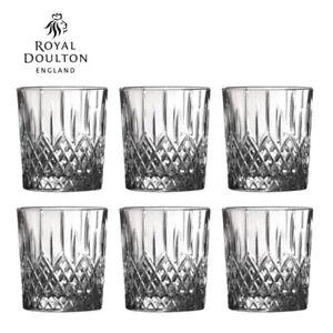 New Royal Doulton Earlswood Crystalline Whiskey Tumbler 275ml Set of 6