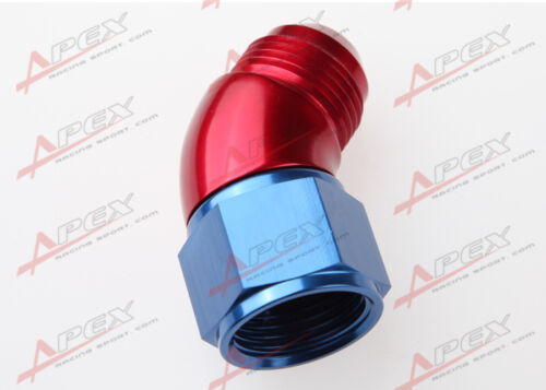 AN-4 4AN To AN4-4AN 45 Degree Female To Male Full Flow Adapter Fitting Red//Blue