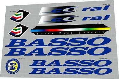 Decal Set BASSO Coral Sticker