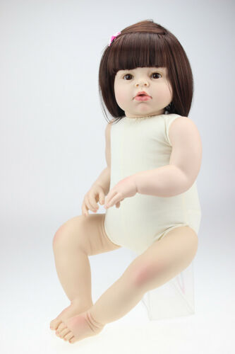 28/'/' Reborn Toddler Dolls Handmade Lifelike Naked Girl Doll Vinyl Cute Baby Gift