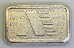 Scarce-A-MARK-1-oz-Silver-Loaf-Bar-Kidd-USVI-6-1981