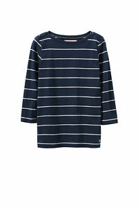 New-Crew-Clothing-Womens-Breton-Boat-Neck-Tee-in-Blue