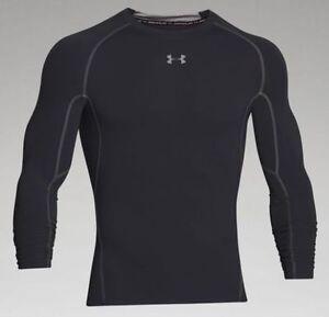 112f081b Under Armour UA Mens Compression Long Sleeve HeatGear Shirt XL 1257471 AYM  96