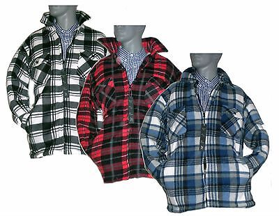 Hart Arbeitend Heavy Duty Thick Padded Fur Lined Checked Work Shirt Lumberjack 3xl 4xl 5xl