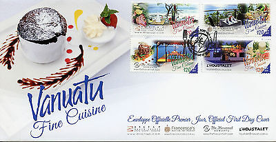 Vanuatu 2015 FDC Fine Cuisine 4v Set Cover Eratap Beach Resort Havannah
