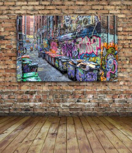 canvas or gloss -Banksy Brainwash Five Pointz NYC Graffiti Street Art 42 x 24