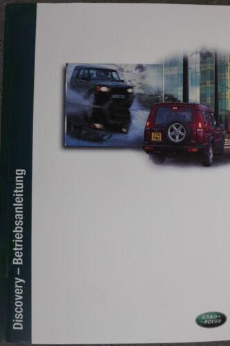 "Land Rover Discovery II Manuel-Mode d/'emploi/"" 2001/"" Manuel"