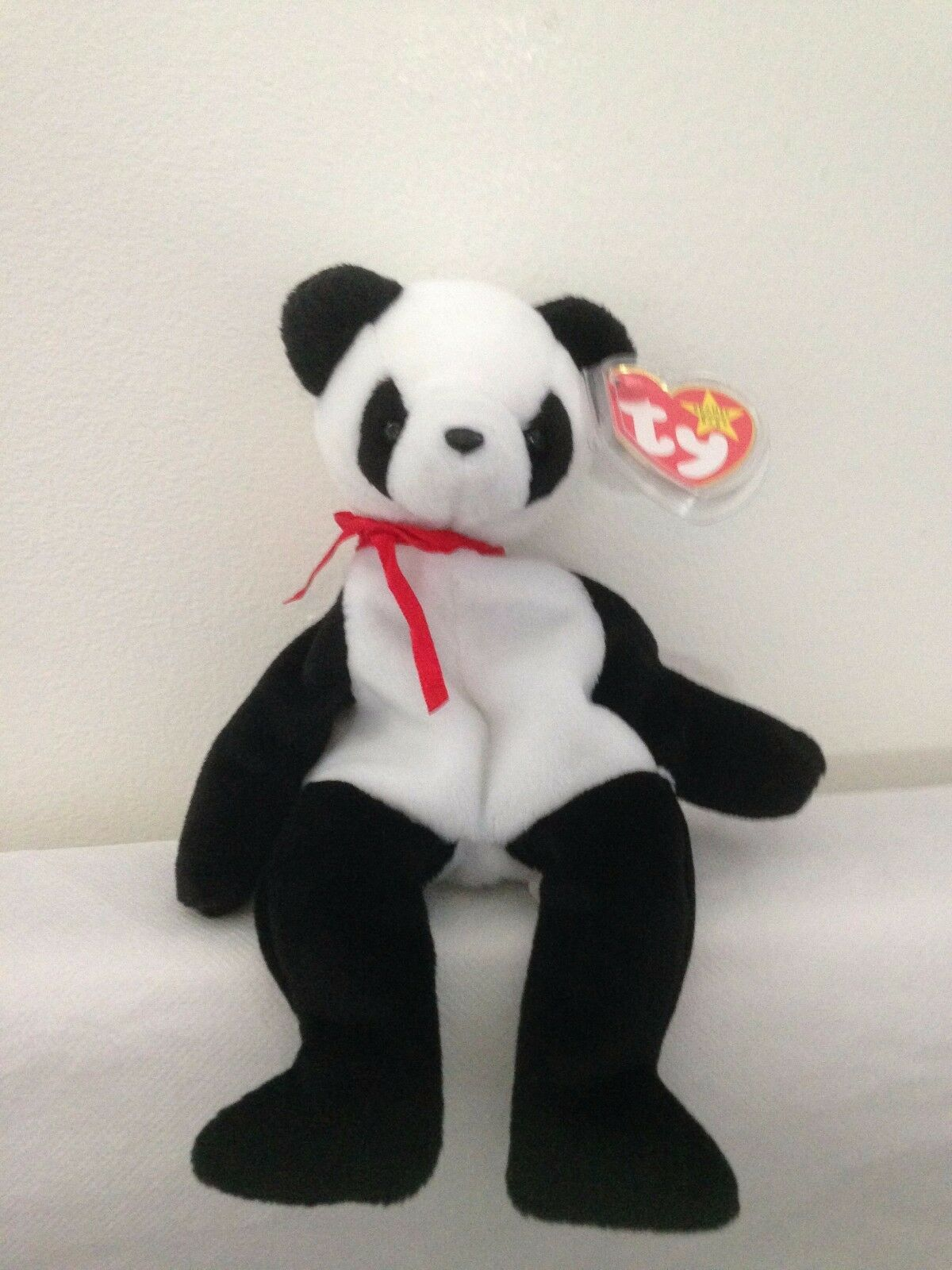 TY Beanie Babies - Fortune The Panda Extremely Rare Indonesian With Tag Errors