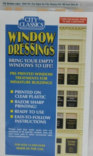 """715 MODERN ERA SIGNS FOR WINDOWS 5//8/"""" TO 1-1//4/"""" WIDE BY CITY CLASSICS"""