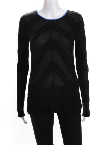 T Alexander Wang  Womens Long Sleeve Top Black Siz