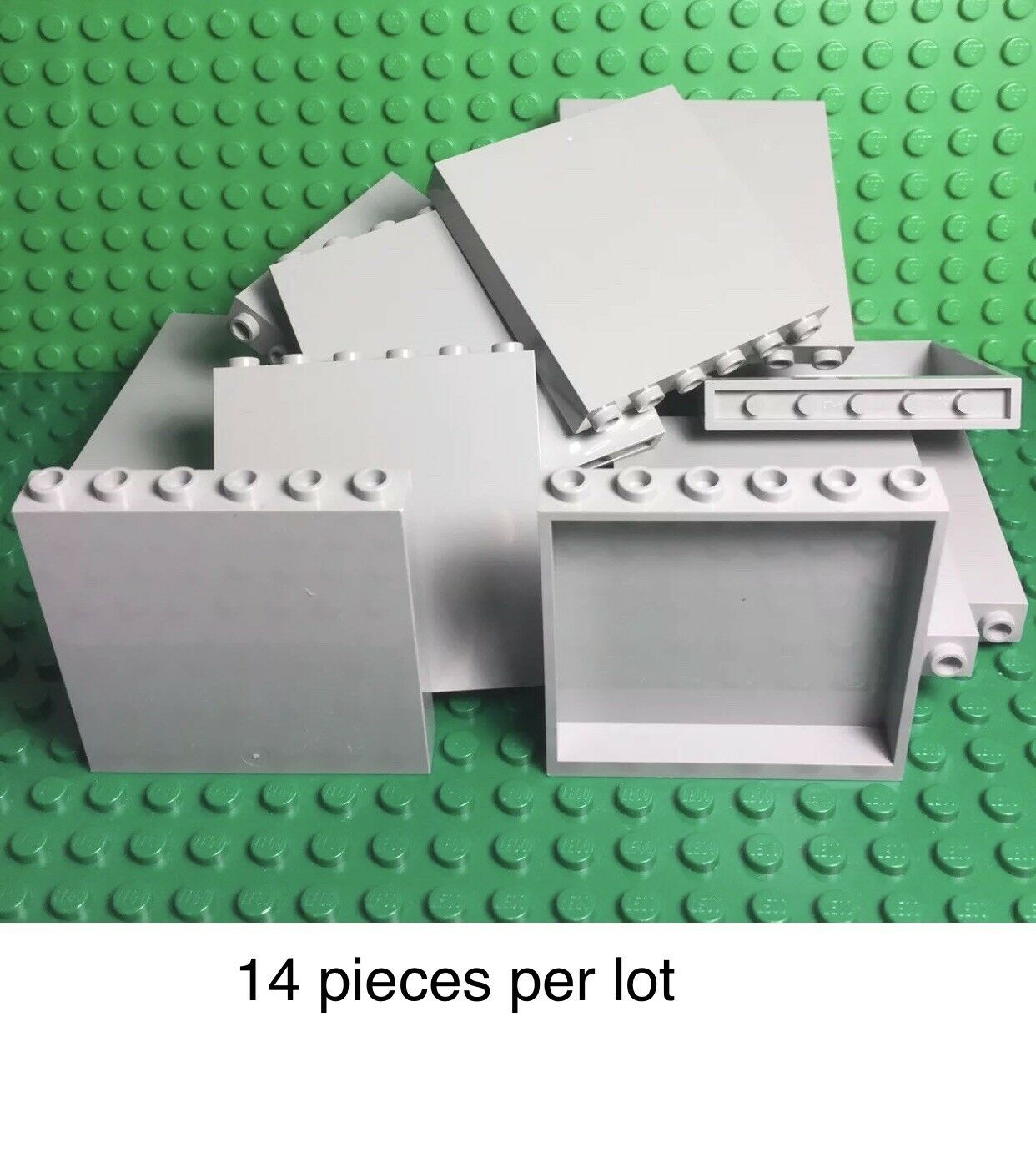 Lego 4 New Green Plates 6 x 6 Dot Pieces Parts
