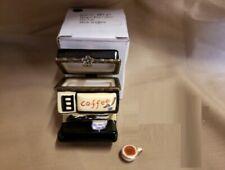 Limoge Style Trinket Box & Trinket Hinged Treasure Miniature Coffee Machine Cup