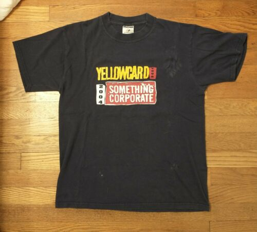 Yellowcard Something Corporate 2004 Tour T-Shirt M