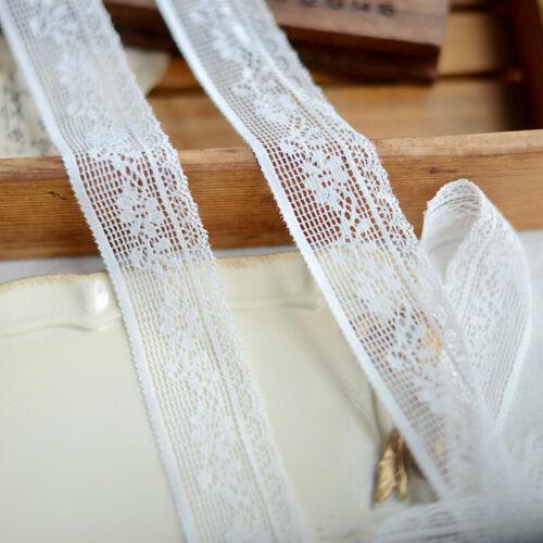 "3Y 2/"" Vintage Style Elastic Stretch Floral Lace Trim~Snow White~Romantic Diary~"