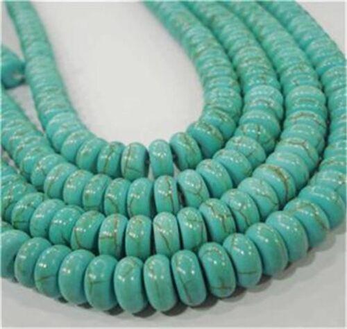 """1pcs 4x6mm Turkey Turquoise Abacus Loose Beads Gemstone 15/"""""""