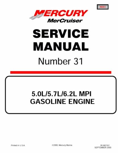 2001 mercury mercruiser service manual 31 350 mag mpi horizon rh m ebay ie 350 Mercruiser Marine Mercruiser 350 Magnum